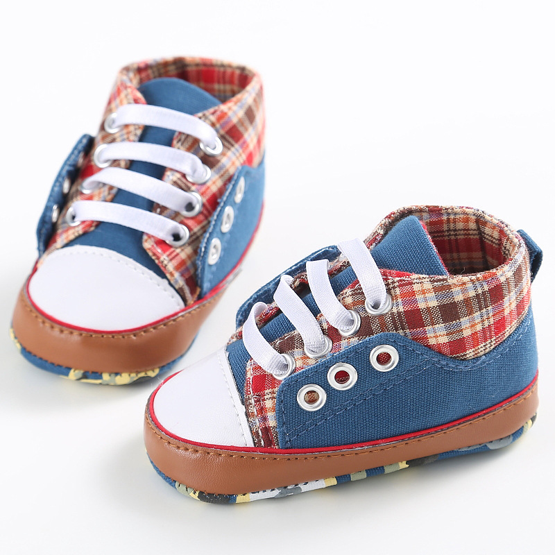 Casual Infant Baby Boys Shoes Princess Plaid Spring Autumn Toddler Newborn Lace-Up First Walkers Sneakers Shoes sapatos infantil<br><br>Aliexpress