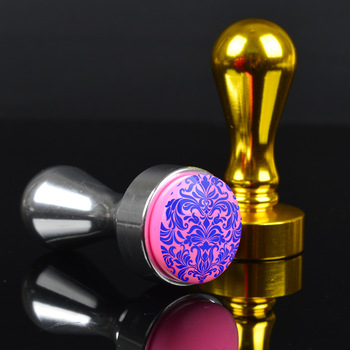 1Pc Round 2.4cm Stamper Scraper Kit Practical Metal Handler Nail Art Stamping Tools