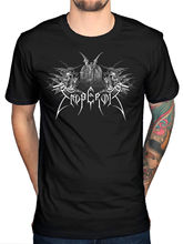 Official Emperor Praise The Lord T-Shirt Rock Band Tour Merch Black Metal Print T Shirt Summer Style Comfortable Top Tee(China)