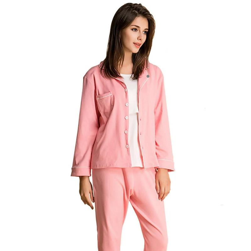 Autumn pajamas sets for women Cotton pijama nightwear women homewear coat pants baby romper set Sleepwear Nursing Clothes R4<br>