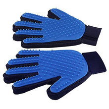 Cat Grooming Deshedding Brush Glove Touch Pet Dog Gentle Efficient Back Massage Fur Washing Bathing Brush Comb Right/Left Hand(China)