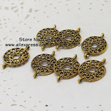 Hollow Circle Trendy Jewelry Connectors Antique Gold Metal Alloy Charms Fit DIY Jewelry Making(60 pieces/lot) 16*24mm 7445