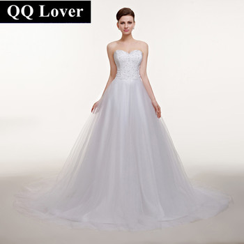 2017 New Wedding Dresses Sweetheart Off the Shoulder Custom Made Plus Size Princess Bridal Gowns Best Quality Vestido De  ID0023