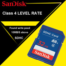 100% Original SanDisk SD card 32GB 16GB 8GB 4GB C4 SD SDHC Memory Card class 4 Camera carte sd Pass Official Verification(China)