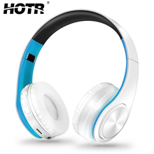 HOTR Bluetooth Headphone Wireless Earphone with Mic LED Light Headset for Mobile Phone/MP3/4/PC/Tablet Game Music Headphone(China)