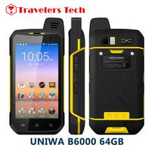 4G LTE Zello PTT walkie talkie phone UNIWA B6000 Octa core 4GB RAM 64GB ROM 5000mAh  NFC Android 6.0 IP68 waterproof Smartphone