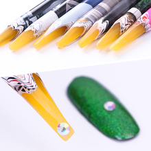 1Pc Easily Picking Up Rhinestone Picker Pen Wooden Wax Pen Manicure Nail Tool Random Color
