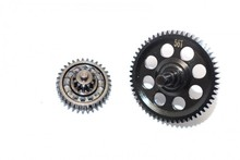 THUNDER TIGER KAISER XS STEEL #45 SPUR GEAR 56T & DOUBLE SPEED REDUCTION GEARS - 2PC SET -SKXS56T1233T