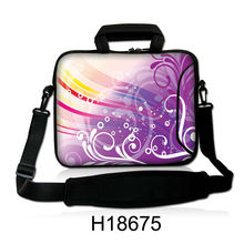 "Neoprene Colorful Fancy Grass Design 10""13""14""15""17"" Soft Computer Cover Protect Case Laptop Messenger Shoulder Bag For Asus(China)"
