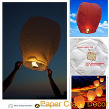 8pcs/lot Oval Shape Biodegradable Paper Sky Lanterns Flame Resistant Flying Balloon Wedding Party Celebration