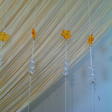 The new line of DIY Bead curtain Crystal bead curtain curtain line curtain flowers Family Rooms Decoration home