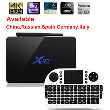 X92 Android 6.0 TV Box Max 3GB/32GB X92 Amlogic S912 Octa Core 5G Wifi 4K Smart Set Top Box BT 3D HD Media player PK X96 A95X(China)