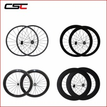 Carbon Wheels 24mm 38mm 50mm 60mm 88mm Depth Profile Tubular Or Clincher Chinese Super Light Carbon Wheelset
