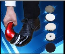 Shoe polisher electric mini 2016household portable Leather Polishing Equipment automatic clean machine(China)