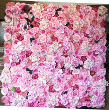 SPR Free Shipping 10pcs/lot bright pink wedding rose flower wall backdrop table runner arch artificial flower decorations(China)