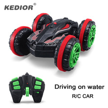 1:18 Nitro Rc Stunt Car Off road Buggy 2.4G 4wd Rc Drift Car Can Drive On Water Electric Remote Control Toy Model For Kids(China)