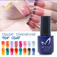 MONASI New Product 3D Color Changing Top Coat Top Quality Temperature Change Top Gel Nail Gel Polish Chameleon UV Gel Manicure