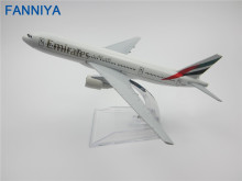 16cm Alloy Metal Air Emirates Airlines Airplane Model Boeing 777 B777 Airways Plane Model w Stand Aircraft  Gift