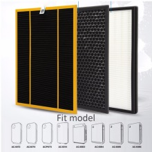 3pcs/lot ac4142 filter kit for Philips AC4072 AC4074 AC4083 AC4084 AC4085 AC4086 AC4014 ACP073 Hepa filters air purifier parts(China)