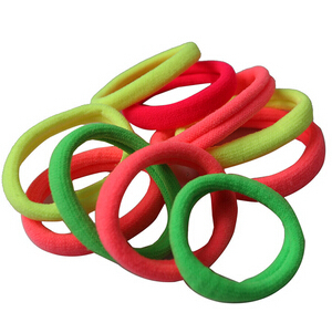 10PCS Women Elastic Cloth Hair Bands Scrunchie Hair Tie Ring Rope Girls