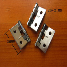 White Metal Cabinet Luggage Mini Hinge,Make Up Box Decoration Hinge with Springs,Antique Vintage Old Style,26*31,50Pcs