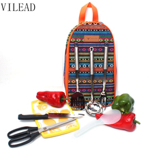 VILEAD Outdoor Cookware Backpack Portable Camping Knife Scissors Fork Kitchenware Set 7 Pcs/Set Tableware Cooking Tools Picnic