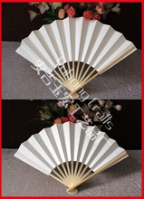 10pcs/lot Wedding/Party's Decors Japanese Style Bamboo Chopsticks Folding Paper Hand Fan