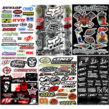 A4 Size Skull Film Sticker For Motorcycle Bike Car Unit Scooter Funny Decals Waterproof PVC Scrawl for Honda Suzuki Kawasaki