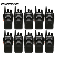 10pcs/lot Baofeng 888s Walkie Talkie For UHF 400-470MHz 16 CH Two Way Radio Portable baofeng bf 888s CB Radio(China)