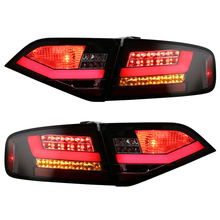 for Audi A4 A4L A4L/B8 LED tail lamps 2008-2012 year Black housing with Red Bar Replacement for LED models