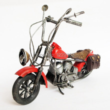 Free Shipping Retro metal craft vintage handmade Red motorcycle model toy fashion pub/home decoration bussiness gift(China)