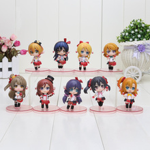 9pcs/set 6.5cm Anime Love Live! School Idol Project PVC Action Figures Toys(China)