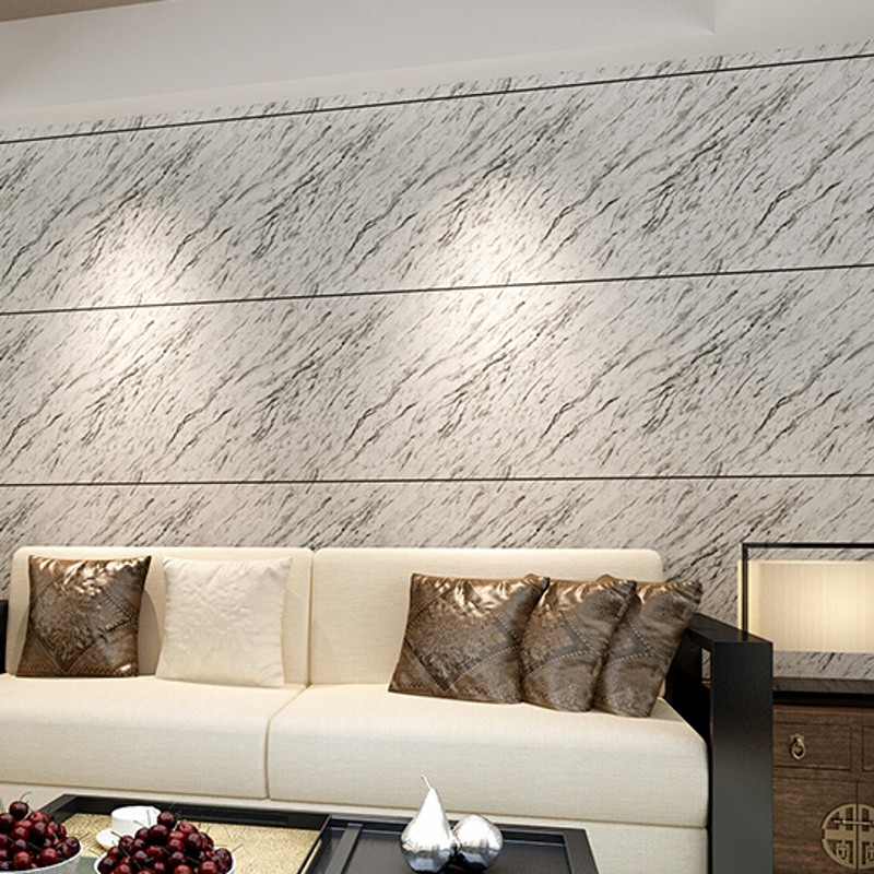 beibehang wallpaper Pvc wallpaper marble design simple modern wall paper grey papel de parede for living room TV background <br>