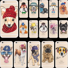 4 4s Luxury Design Pattern Pet Dog Soft Silicon Phone Cover Cases For Apple iPhone 4 iPhone 4S iPhone4S Case Shell 2016 Newest