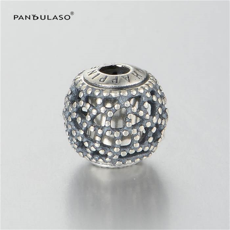 Pandulaso Essence Happiess Vintage Beads Fashion Sterling-Silver-Jewelry Fit Essence Charms Bracelets Women Silver 925 Jewelry