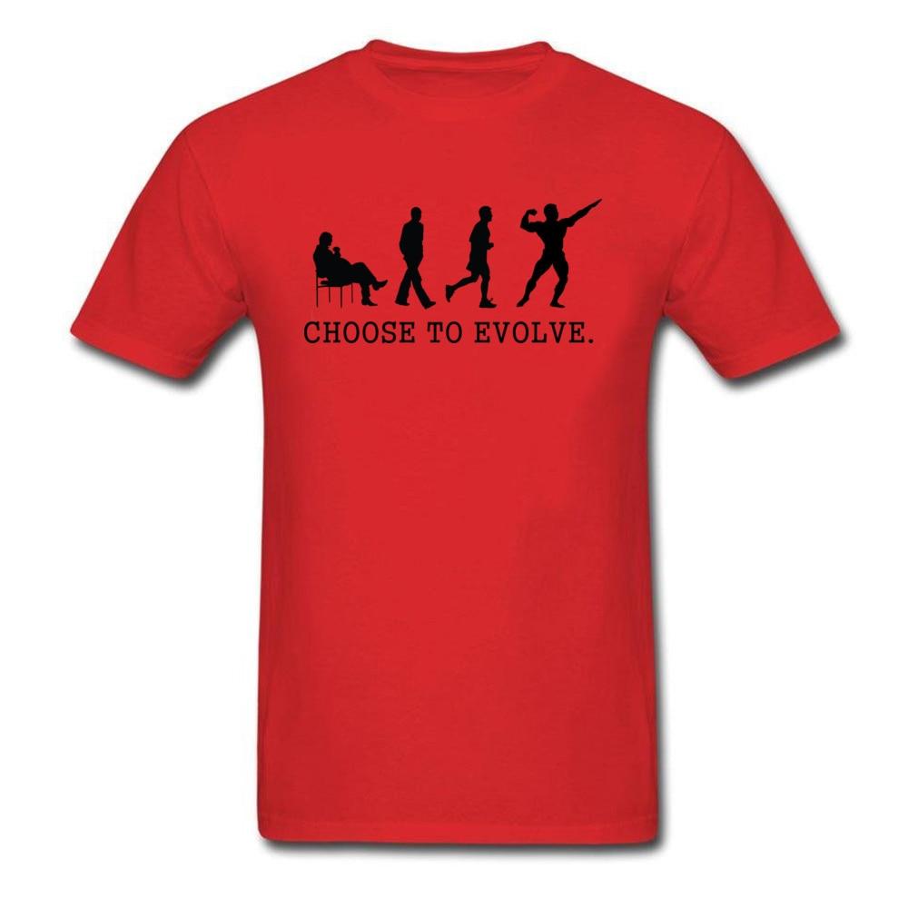 Choose to Evoe Tops Shirt Fashion O-Neck Printed Short Sleeve 100% Coon Fabric Student T Shirt Design Tee Shirts Choose to Evoe red