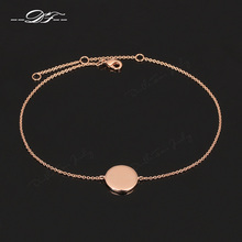 Simple Elegant 'First Love' Rose Gold Color Anklets Chain Fashion Brand Jewelry/Jewellery For Women Wholesale DFA018(China)