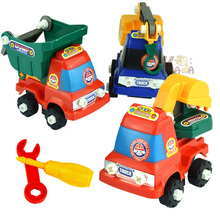 Kids Children Simulation Engineering Vehicles Excavator Inertia Car Boys Toy Real Dump Truck Removable(China)