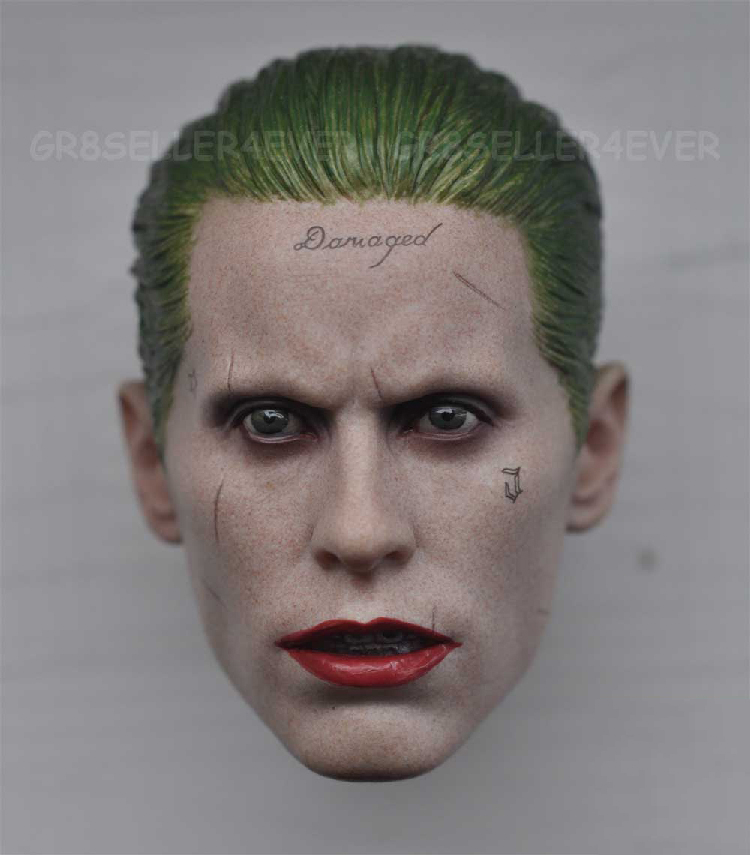 1/6 male Head Sculpt  for 12 Action Figure body  soldier head model toy Suicide squad joker Leto master clown<br>