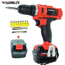 21v electric Drill power tools Cordless Screwdriver  Mini Drill rechargeable cordless  electric drilling dc powered screwdriver