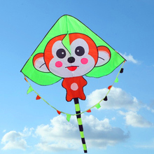 Free shipping high quality monkey kite line children kite handle chinese kite sale nylon string outdoor flying toys kite bag(China)