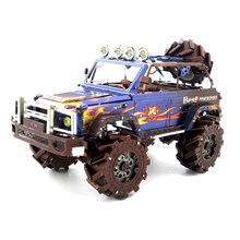 Colorful SUV Cross-Country Car Styling Fun 3d Metal Diy Miniature Model Kits Puzzle Toys Children Educational Boy Splicing Hobby(China)