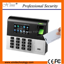 High tech latest fingerprint reader UA200 TCP/IP free software 125KHZ RFID card reader employee time attendance biometric clock