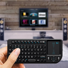 For PC Notebook: Smart Google Android TV Box Rii Mini X1 Fly Air Mouse Handheld 2.4GHz RF Wireless Keyboard Qwerty With Touchpad