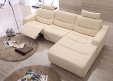 Sofa set living room furniture sectional sofa leather corner sofas with electric recliner sofas