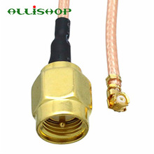 ALLiSHOP 0-6Ghz Extension pigtail Jump SMA male  brooches plug adapter to U.FL IPX connectors RG178 cable for Wifi router GPS AP