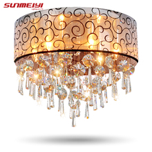 Modern Crystal Ceiling Lights For Living Room luminarias para sala plafon led Crystal Ceiling Lamp Fixtures For Bedroom(China)