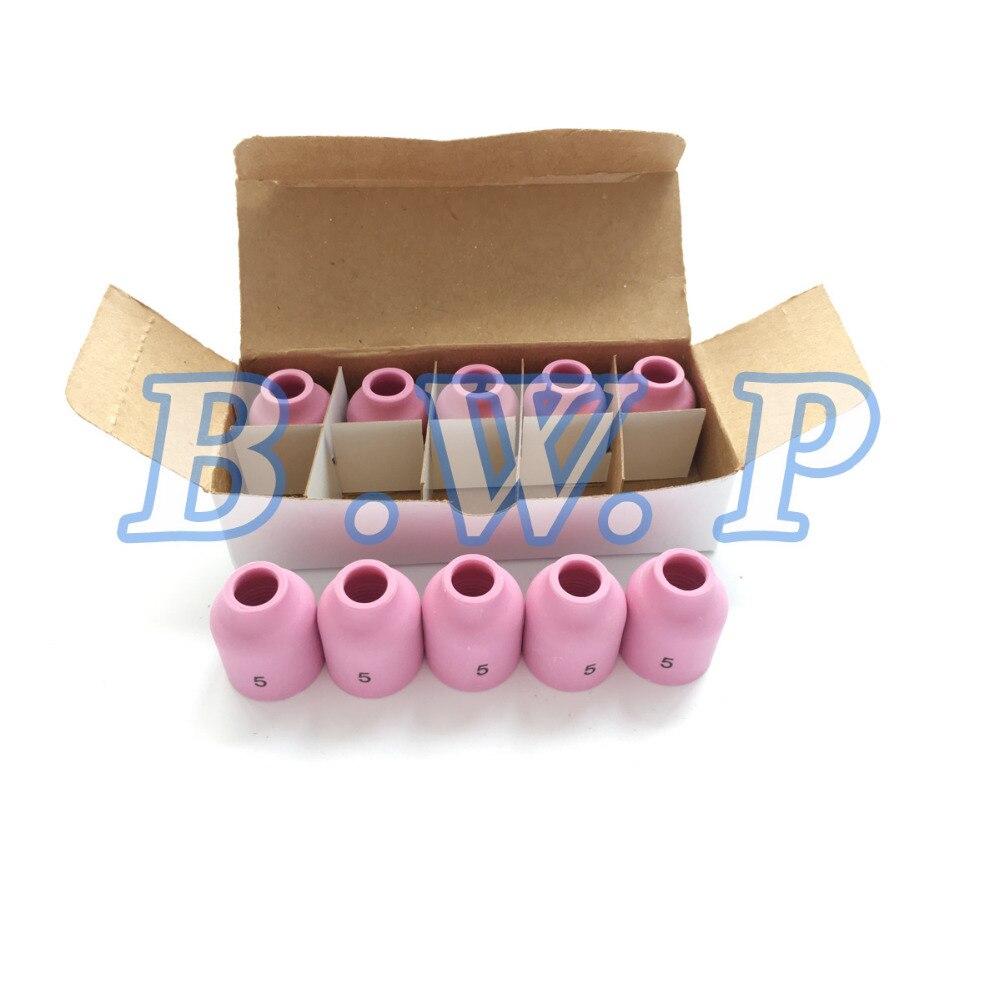 "TIG Welding 53N88 # 10 Large Ceramic Gas Lens Nozzle 5//8/"" WP17 WP18 WP26 5 Pack"