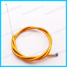 Gold Gas Throttle Cable For 43cc 47c 49cc Mini Moto ATV Dirt Super Pocket Dirt Bike Motorcycle Crosser