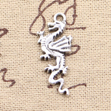 8pcs Charms dragon loong 27*11mm Antique Making pendant fit,Vintage Tibetan Silver,DIY bracelet necklace(China)
